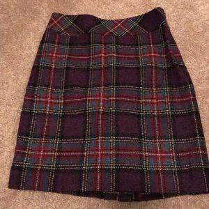 Llbean wool skirt
